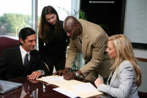Business Team Signing Contract